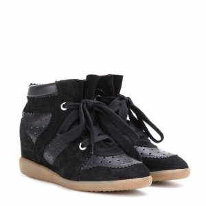 Isabel Marant Sneakers Bobby Black Leather