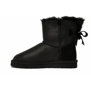 UGG Mini Bailey Bow Metallic Black