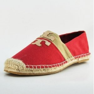 Espadrilles Tory Burch Red in Gold
