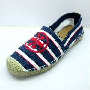 Espadrilles Tory Burch Blue and White Strip