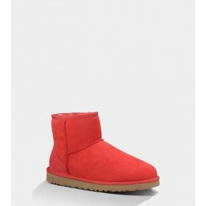 Ugg Womens Classic Mini Red Light