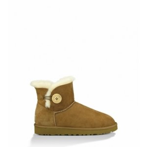 UGG Mini Bailey Button  Chestnut