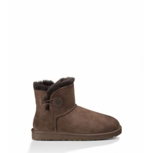 UGG Mini Bailey Button-Chocolate