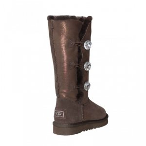 UGG Bailey Button Triplet Glitter - Bling Chocolate