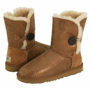 UGG Bailey Button Fancy-Chestnut