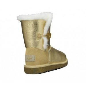 UGG Women Bailey Button Metallic - GOLD