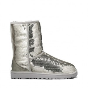 UGG Classic Short Sparkles - Silver