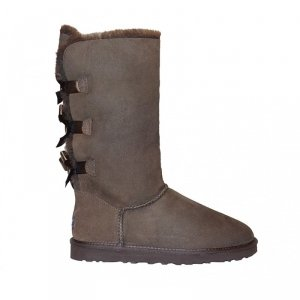 UGG Bailey Bow Tall-Chocolate