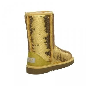 UGG Classic Short Sparkles-Gold