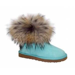 UGG Mini Fox Fur - Aquas