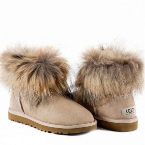 UGG Mini Fox Fur - Sand