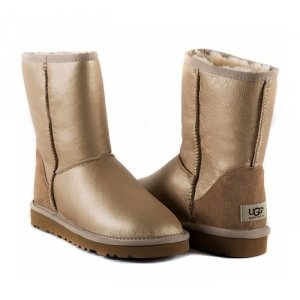 UGG Women Short Metallic - Soft Gold