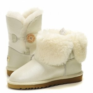 UGG Bailey Button Metallic - White