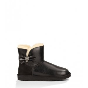 UGG Mini Bailey Bow Crystal - Black