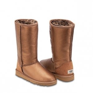 UGG Classic Tall Metallic Chestnut