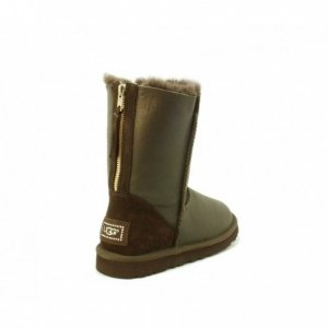 UGG Classic Short Zip Metallic - Chocolate