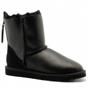 UGG Classic Mini Zip Metallic - Black