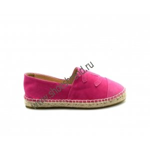 Espadrilles CHANEL Suede Pink 2015