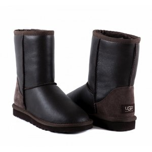 UGG Classic Short Metallic - Chocolate