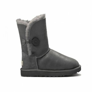 UGG Kids Bailey Button Metallic - Grey