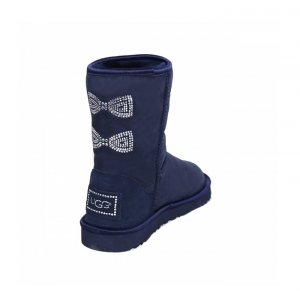 UGG Classic Short Crystal Bow - Navy