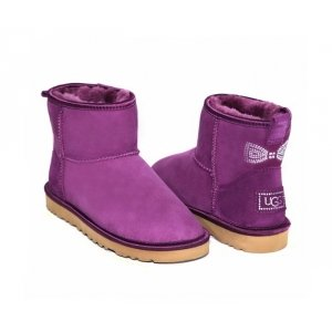 UGG Classic Mini Crystal Bow - Purple