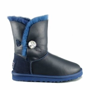 UGG Bailey Button Bling Metallic - Navy