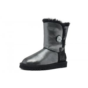 UGG Bailey Button I Do Sheepskin - Black