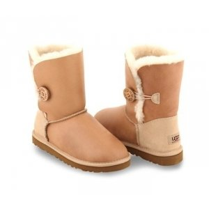 UGG Bailey Button Metallic - Sand