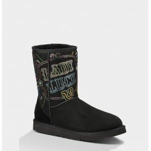 UGG Classic Short Lady Luck Black