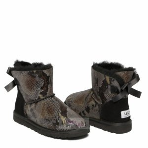 UGG Mini Bailey Bow Snake Dark Grey
