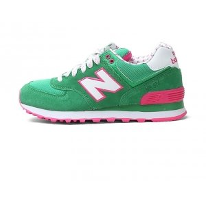 New Balance 574 - Green/Rose