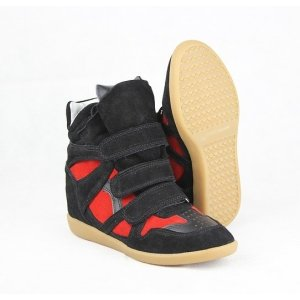 Isabel Marant Sneakers Black and Red