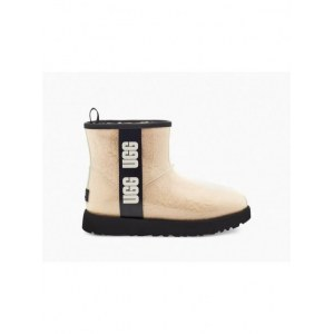UGG CLASSIC CLEAR MINI NATURAL / BLACK