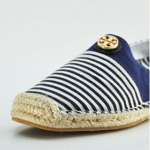 Espadrilles Tory Burch White and Black Strip