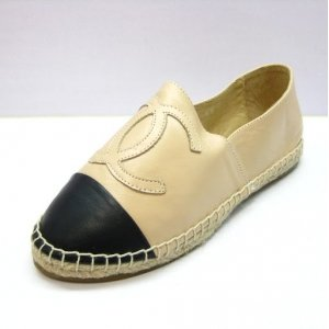 Espadrilles Chanel Yellow Cream Black ( кожа )