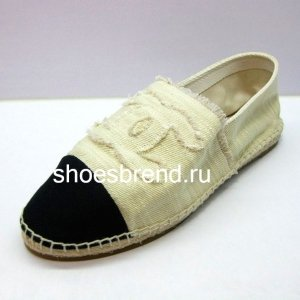 Espadrilles Chanel Cream Black