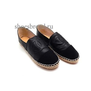 Espadrilles Chanel Leather Black New